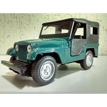 Miniatura Jeep Willys Ford Verde Inesqueciveis Nacionais 2