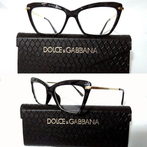 8a52790a5a918 Armação Óculos Grau Feminino Gatinho Dg2018 Diamante Acetato. R  110