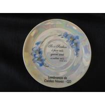 Prato Descorativo Lembrança Porcelana Pintado A Mão.c/14,5cm