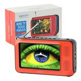 Mini Tv Digital Portátil Hd Tela 4.3 Polegada Usb Fm Monitor