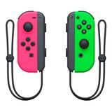 Controle Joystick Nintendo Joy-con Rosa/verde-néon