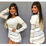 Blusa Feminina Tricot Com Renda Modelo Acessorio Moda