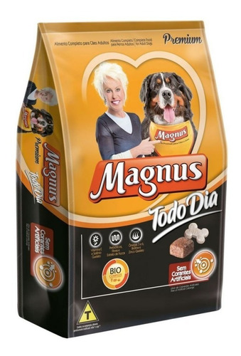 Ração Adimax Magnus Todo Dia Cães Adultos Sabor Carne 25 Kg