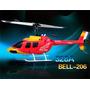 Nes3023282429 - Bell 206 Vermelho 328a - Helicóptero 4ch