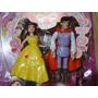 01 Par Bonecos Disney Princesa Bella E O Principe
