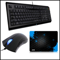 Razer Mouse Deathadder 3500 Dpi + Teclado Cyclosa + Mousepad