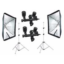 Kit Iluminação Softbox Sombr 60x90 Cine/foto Tripé Robusto