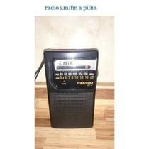 Radio Am Fm Portátil Apilha Com Antena P0012