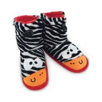 Pantufa Pelúcia Meia Zebra Tam. 23/24 Ricsen Ótima Qualidade