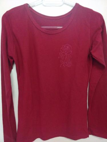 0d820ccb38 Kit 10 Camisetas Femininas Manga Longa Liquida Estoque