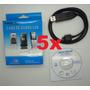 Lote Atacado Kit Com 5 Cabo Usb Celular Lg Antigo Kf240 Kp