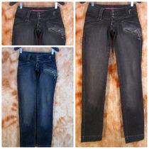 Calça Jeanslycra Skinny Canal Da Mancha 38 Cintura Baixa