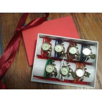 Promoção - Kit Com 7 Relógios Vintage Feminino Em Couro