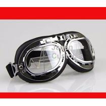Óculos Goggle Aviador Motociclista Capacete Aberto Coquinho