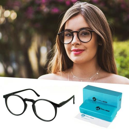 3d678c049 Armação Óculos Grau Feminino Redondo Geek Isabela Dias 6601