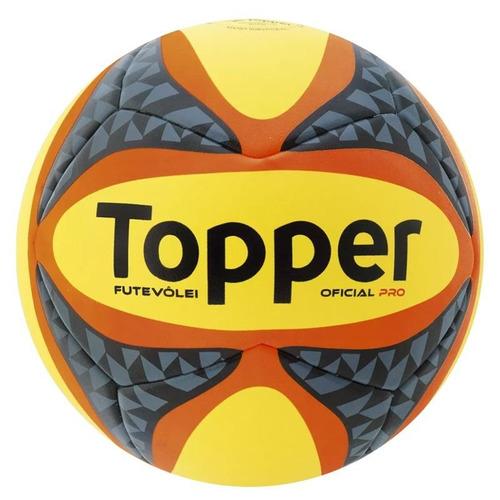 70ca062850 Bola De Futebol De Areia Topper Pro Amarela