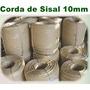 Corda De Sisal Natural De 10mm (3/8) Rolo Com 220 Metros