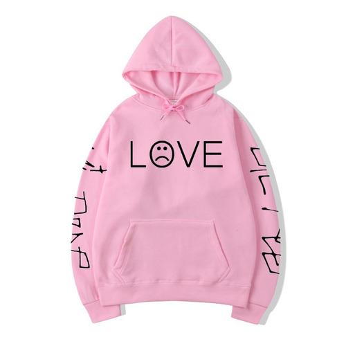Moletom Canguru Rosa Lil Peep Love Tumblr Trap faed77e6124dd