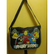 Bolsa Mochila Escolar Angry Birds Espaçosa