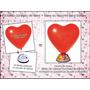 Kit Com 20 Balão Coração Vermelho + 20 Base Para Balões