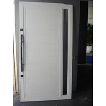 Porta De Correr De Alumínio Branco 2,1 X 1,10 Mt C/ Vidro