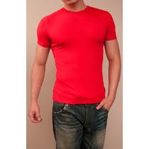 Camiseta Gola V Fechada (tipo Hering)
