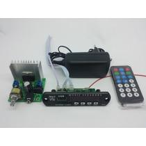 Placa Amplificador 30w + Fonte + Leitor De Usb + Contole