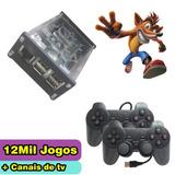 Vídeo Game Retro Nostalgia 12 Mil Jogos + Tv Box - Completo