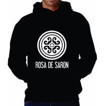 Moletom Rosa De Saron Blusa Canguru Com Capuz