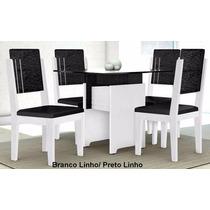 Mesa De Jantar Esmeralda Com 4 Cadeiras 100% Mdf