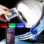 Lâmpada Led 6w Music Rgb Caixa De Som Bluetooth + Controle