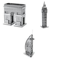 Quebra Cabeça Mini 3d Burj Al Arab Bigben Tower Arco Do Triu