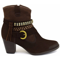 20% Off Bota Ankle Boot Dakota Couro Café B7961