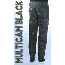 Calça Cargo Camuflado Multicam Black
