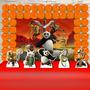 Festa Aniversário Kung Fu Panda Decoração Infantil Kit Ouro