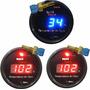 Kit 2 Termômetro Agua Vermelho + 1 Azul Digital Racetronix