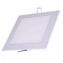 Kit 10 Painel Plafon Luminária Led Quadrado Embutir Slim 18w