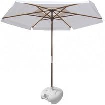 Ombrelone Branco Luxo Para Espreguiçadeira & Cadeiras Praia