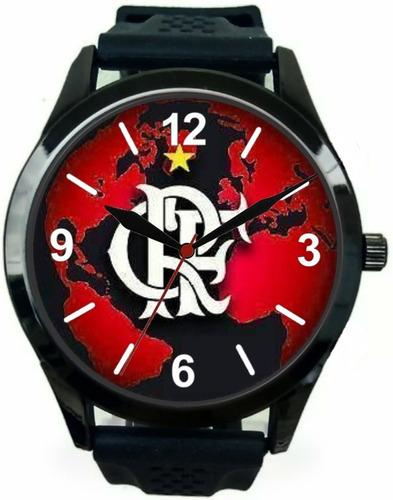 7595e74c5e4 Relógio Pulso Flamengo Personalizado Esportivo Masculino
