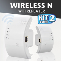 Kit Com 2 - Wifi Repeater N - Repetidor 300mbps Amplificador