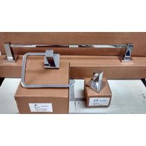 Kit 3pç Lavabo Papeleira +toalheiro Simples+ Cabide Simples