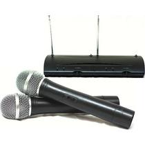 Microfone Sem Fio Duplo Wireless Tshure Longo Alcance