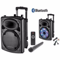 Ecopower Ep1903 15 400w Rms 2 Mic S/ Fio Bateria - Bluetooth