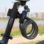 Trava Cadeado Bike Lock Tonyon Chave Cabo Aço Moto Estepe