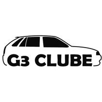 Adesivo Decorativo Parabrisa Carro Club - Gol G3 Clube