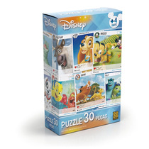 Quebra-cabeça - Personagens Disney - 30 Peças - 2018 - Grow