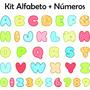 Adesivo Parede Quarto Infantil Kit Alfabeto Letras Números