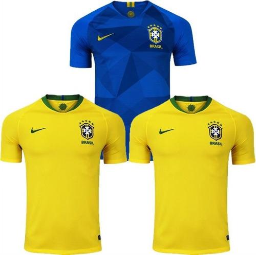 3 Camisas Seleção Brasileira Futebol Copa 2018 Oferta 40%off. R  179.9 804bb9d5ec3eb