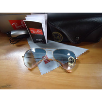 Ray Ban 3025 Large Metal Lente Azul Degrade 001/3f Original