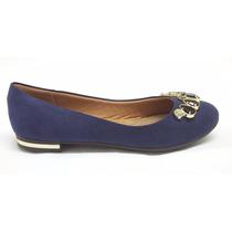 Sapato Feminino Piccadilly Azul. Conforto Para Os Pés